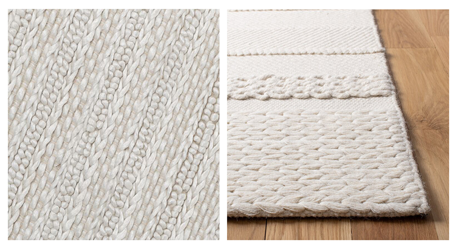 monochromatic braided wool area rugs 5 x 7