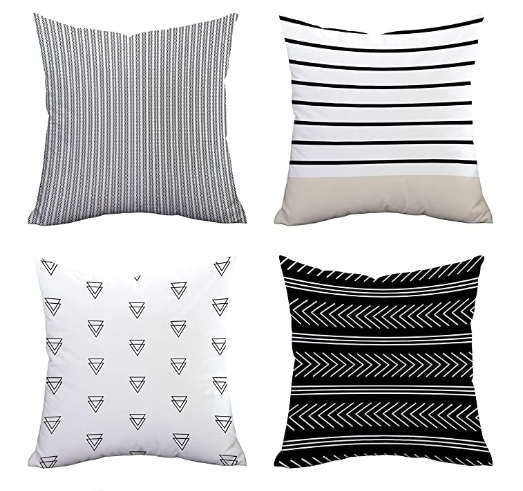 mix and match patterned throw pillow for living room