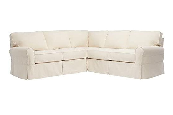 large white sectional