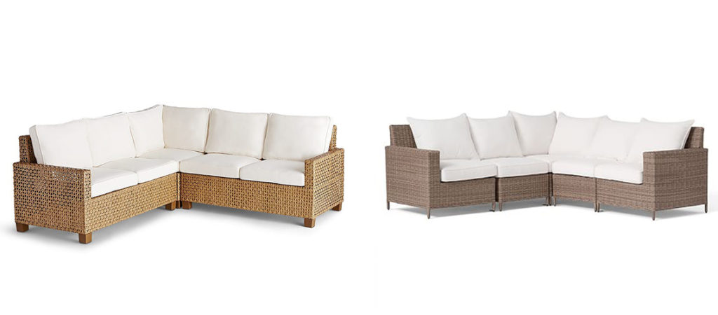 outdoor patio furniture wicker sectionals