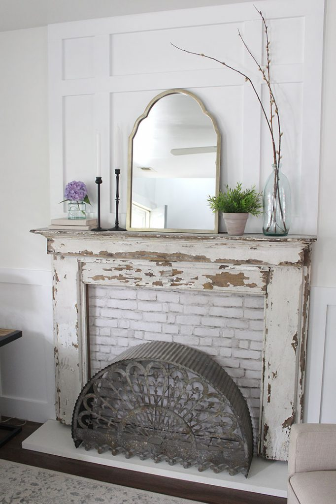 DIY Faux fireplace with custom suround how to