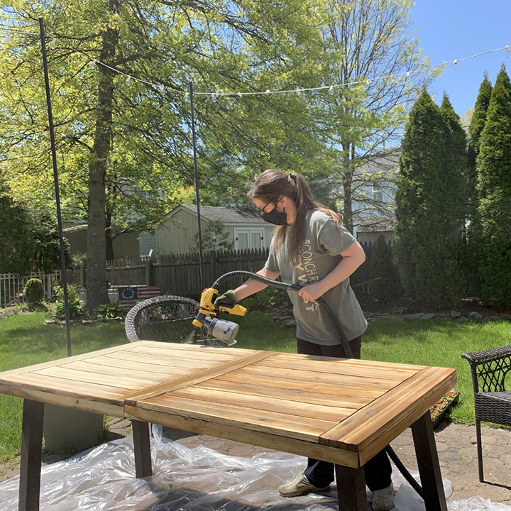 how to restore outdoor wood furniture