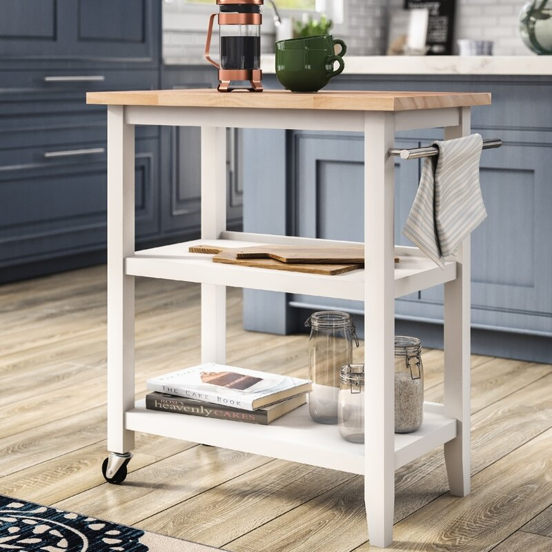 butcher block kitchen cart for extra storage space