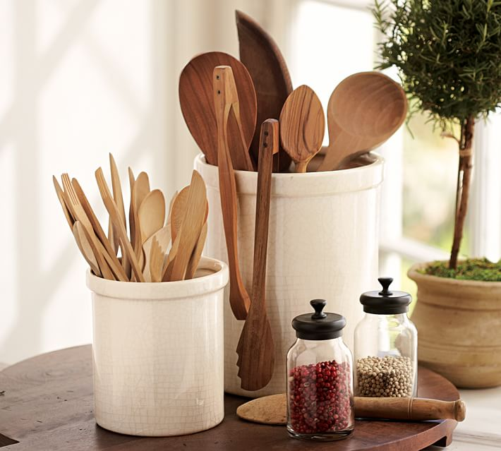 reduce countertop clutter in the kitchen with well thought out accessories and containers