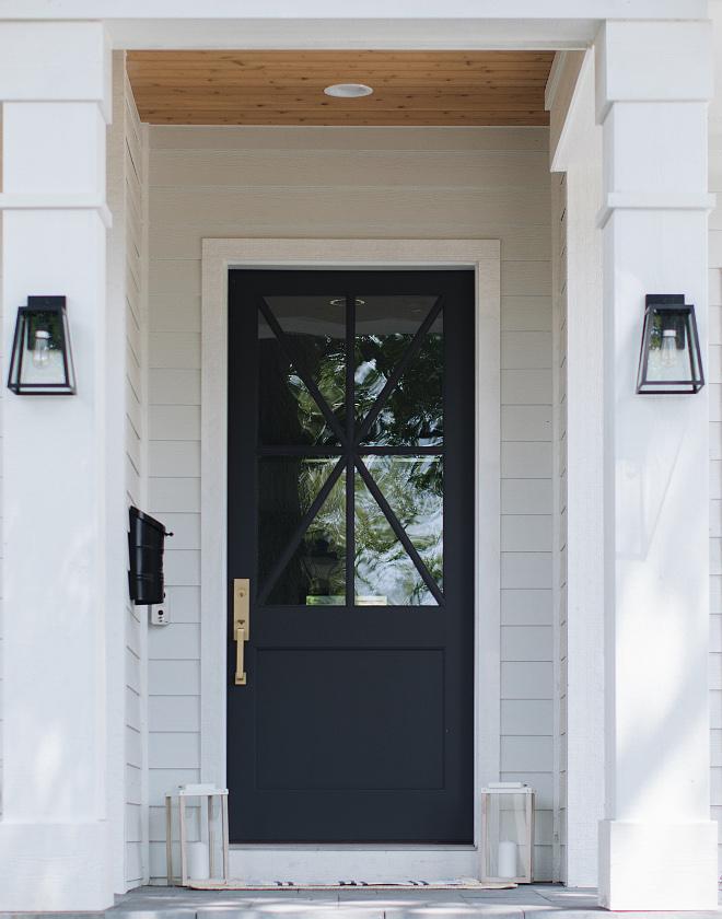 black front door wrought iron