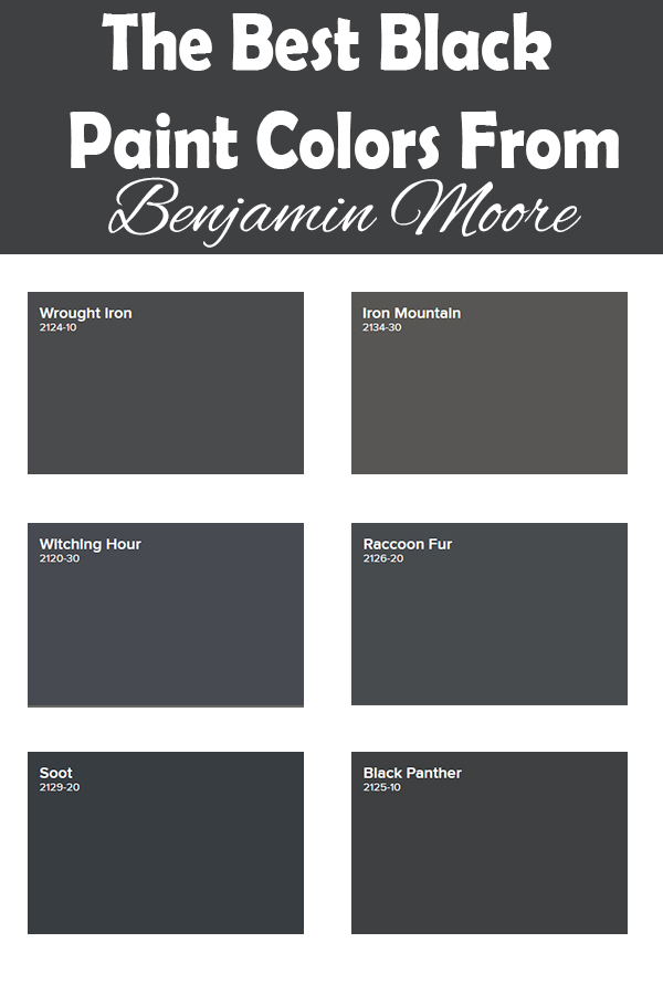 the top black paint colors from Benjamin Moore