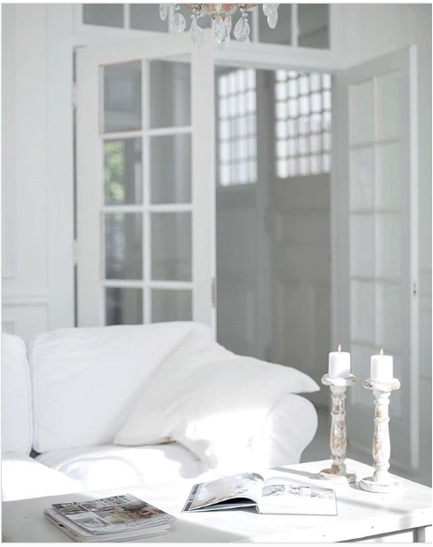white interior with transom