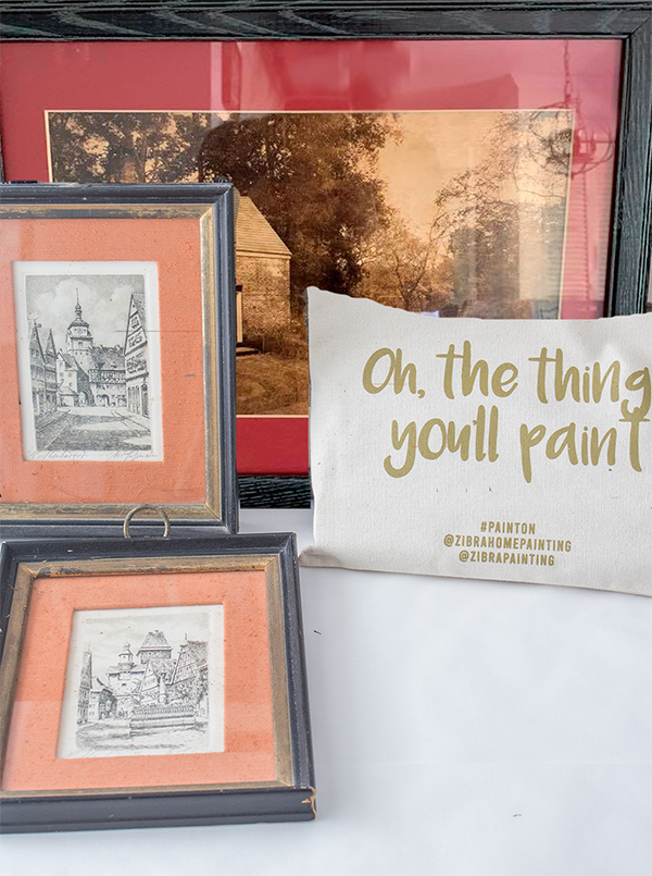 how to paint picture frames