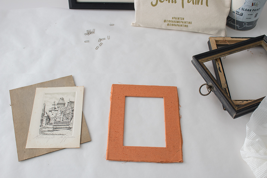 how to take apart a picture frame for painting