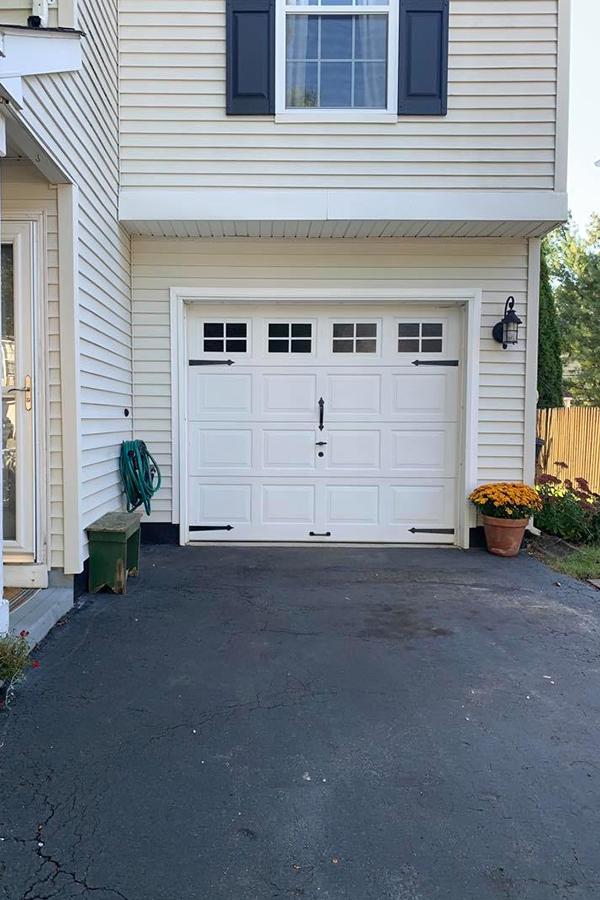 how to paint a garage door after