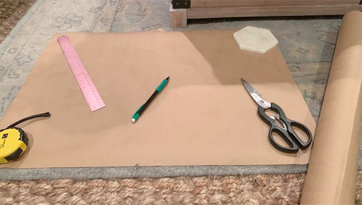 creating a template for DIY caning