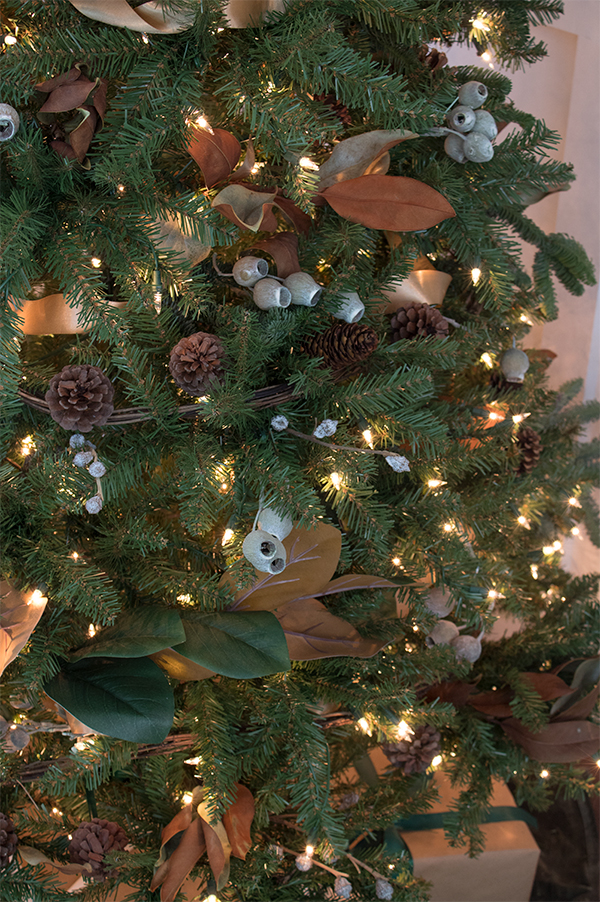 all natural woodland Christmas tree decorations