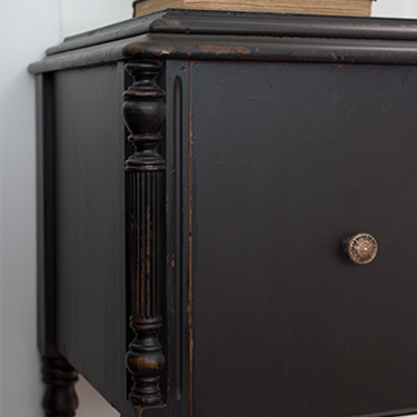 How to Paint Furniture Black Distressed (Without Sanding!)