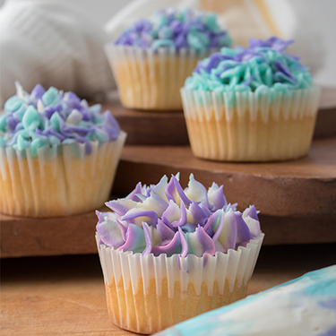 Hydrangea Cupcakes – Vanilla Bean Flavored