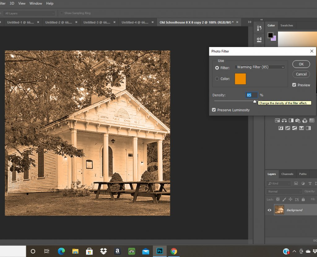 making pictures look old and worn in photoshop