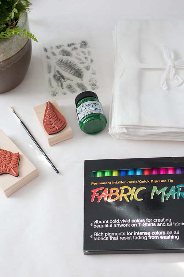 supplies need to stamp fabric