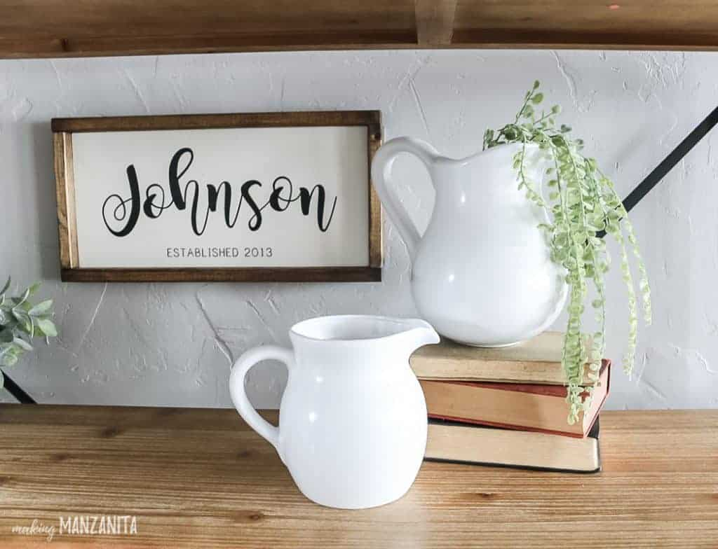 white ironstone pitchers DIY - easy thrift store upcycles