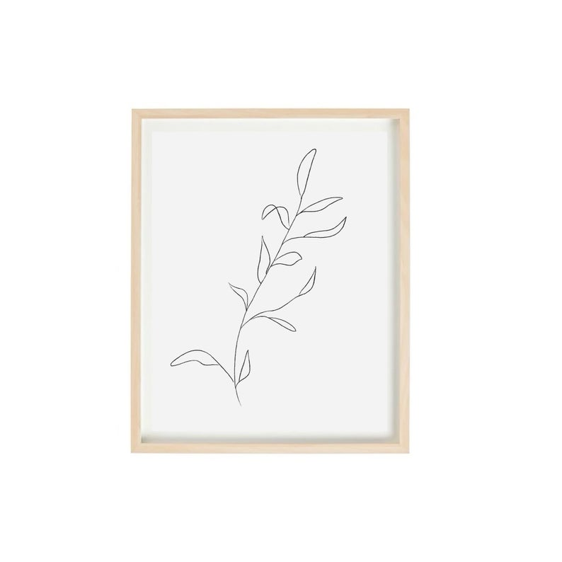 leaves and branches simple sketch art print