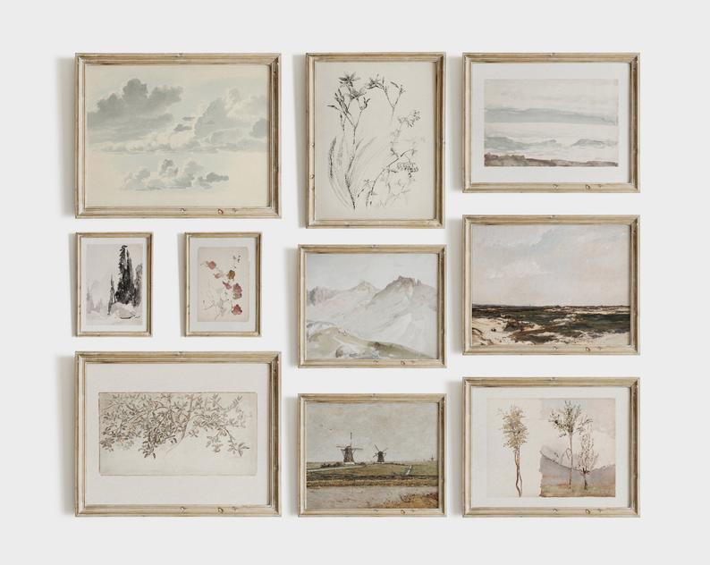 gallery wall set of 10 prints
