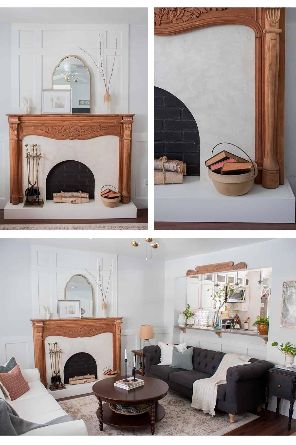 small living room design ideas wood fireplace mantel