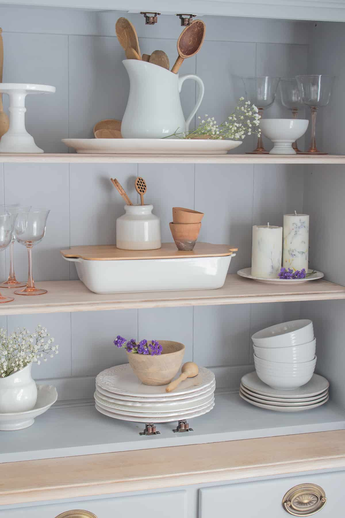 Styled shelves hutch