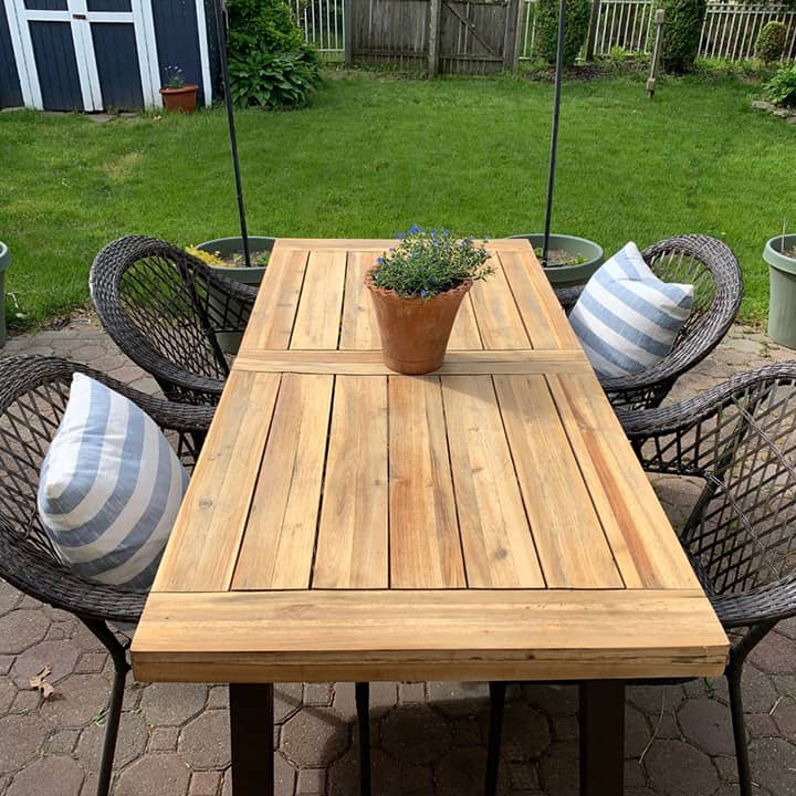 how to restore outdoor weathered wood furniture