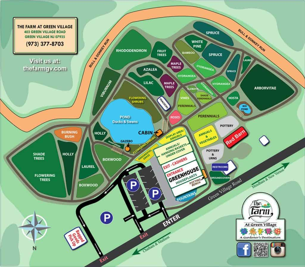 the farm at green village map
