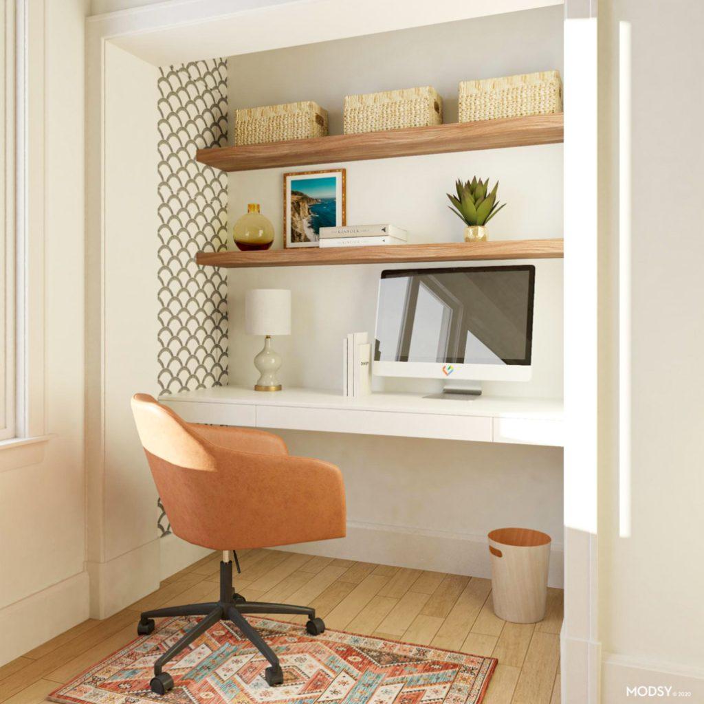 creative small home office ideas, the cloffice