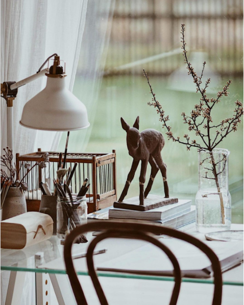 desk decor and styling