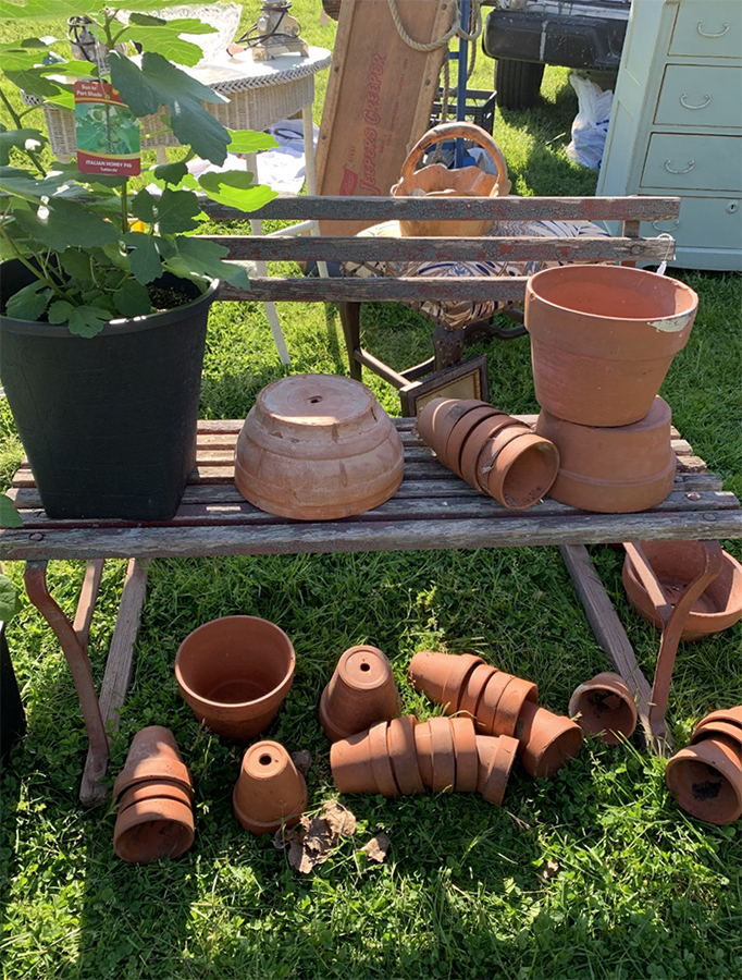 vintage planters flea market finds
