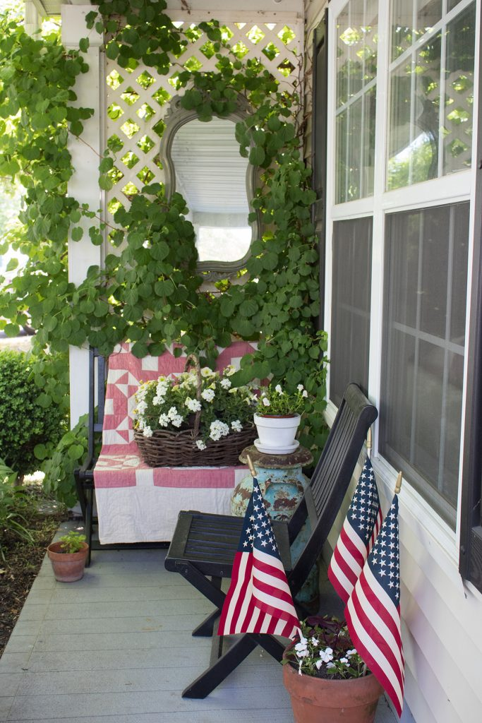 red white and blue outdoor decorations