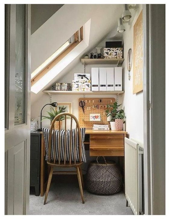small home office nook closet