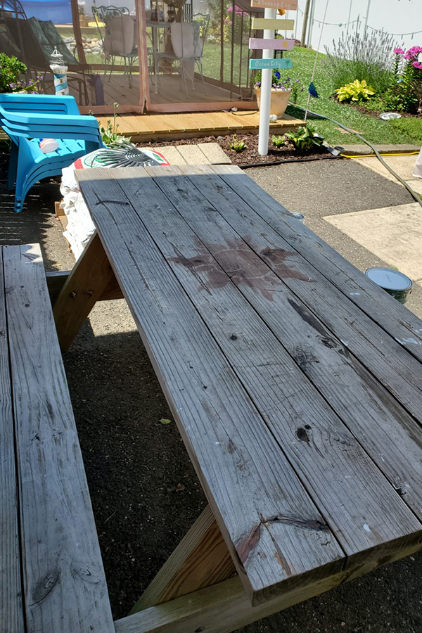 upcycling an old wood table