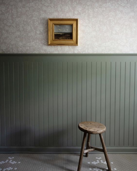 wallpaper and paint combination ideas