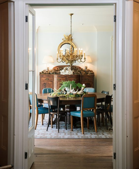 vintage traditional dining room
