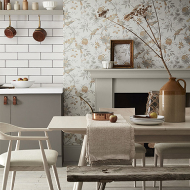 Wallpaper and Paint Combinations