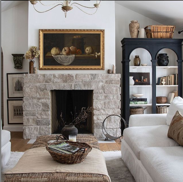 French interior style living room design