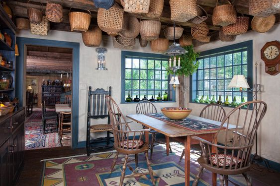 rustic country dining room