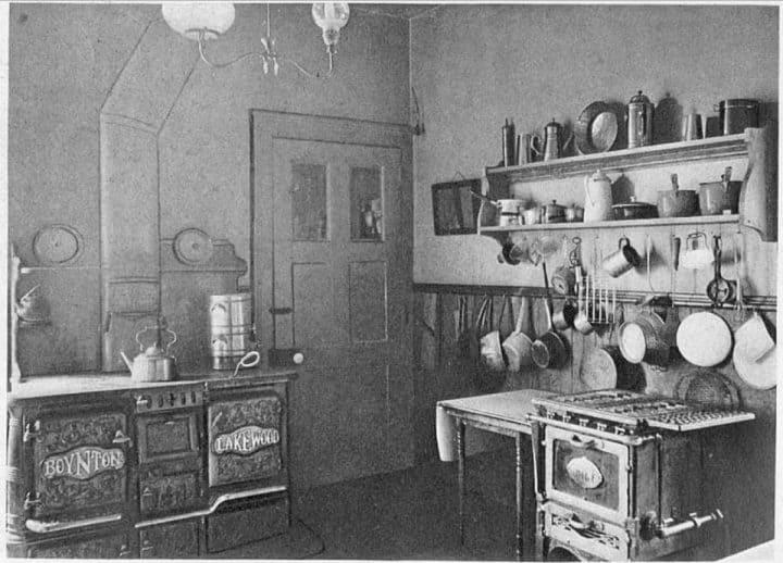 early american farmhouse kitchen