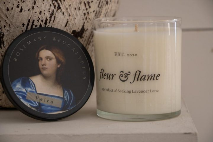fleur and flame French inspired candles