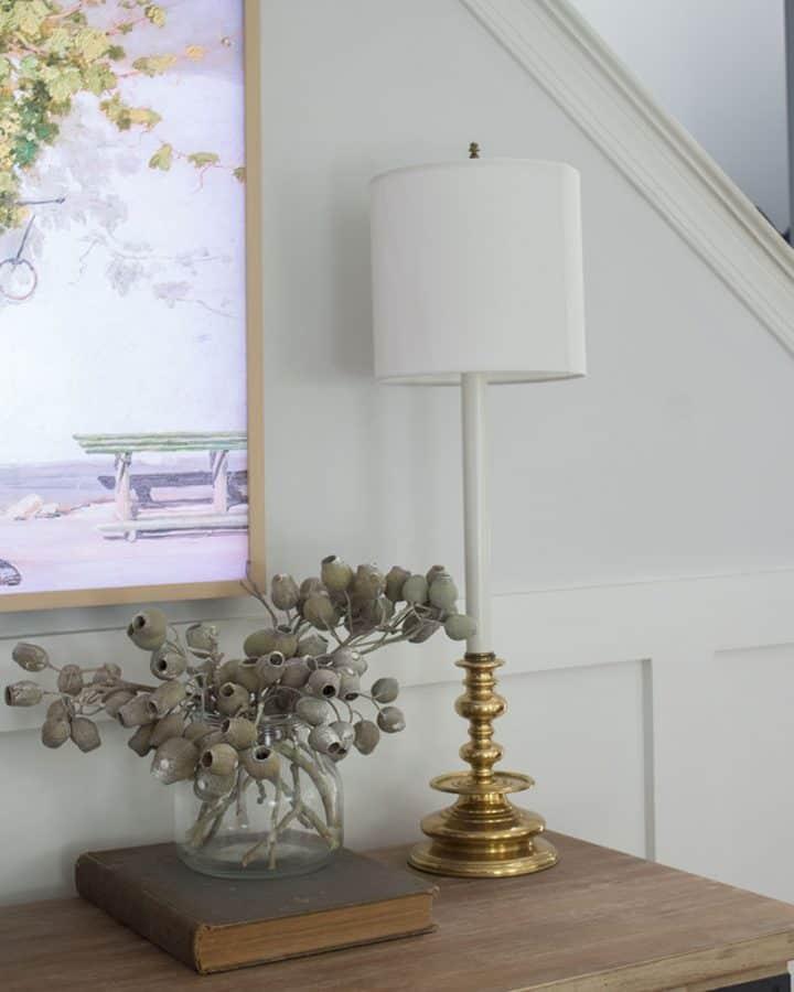 vintage decor brass lamps