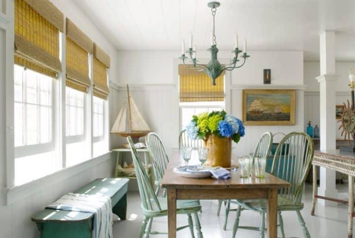 coastal interior design style dining rooms