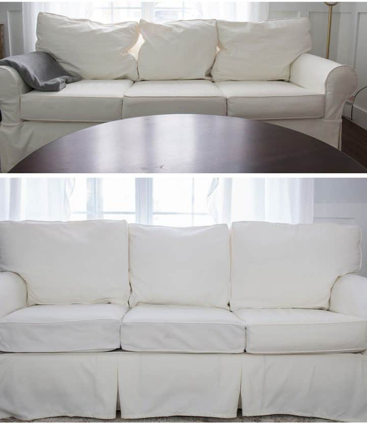 how to fix flat or sagging couch cushions before and after