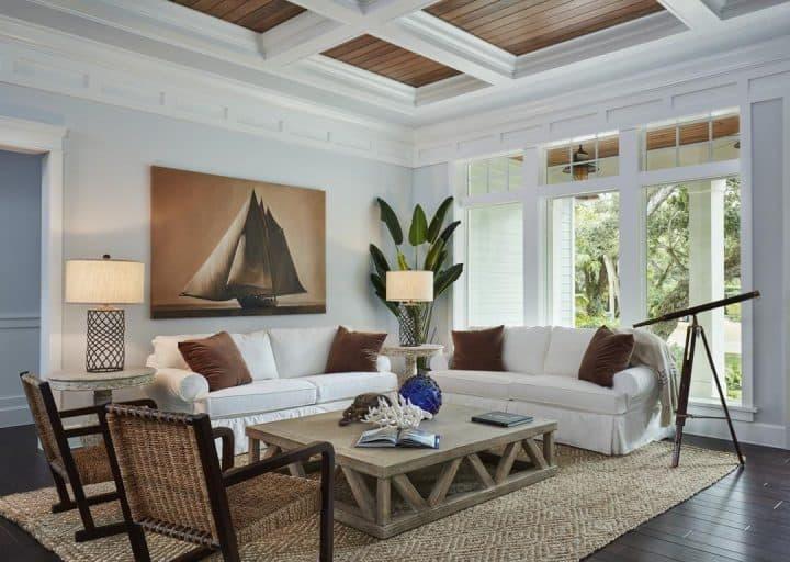 beachy decor living room