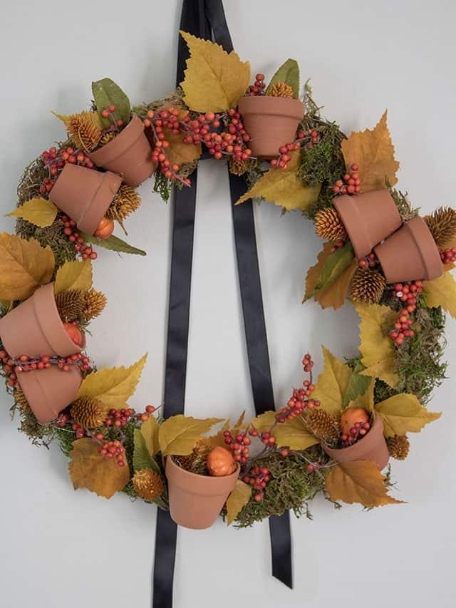 DIY Terracotta Fall Wreath