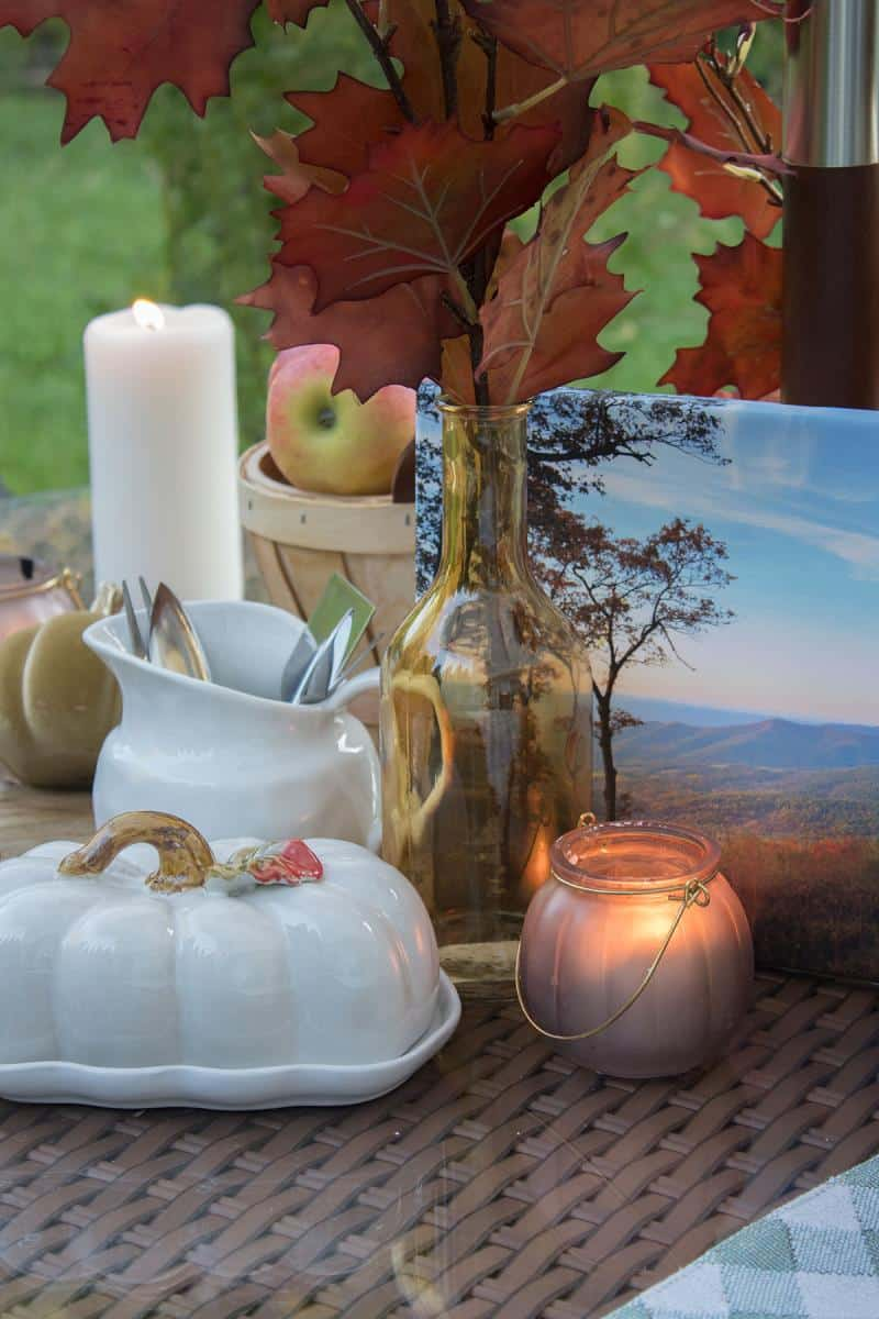 fall table setting ideas cheap