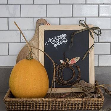 Grapevine Pumpkin Sign DIY