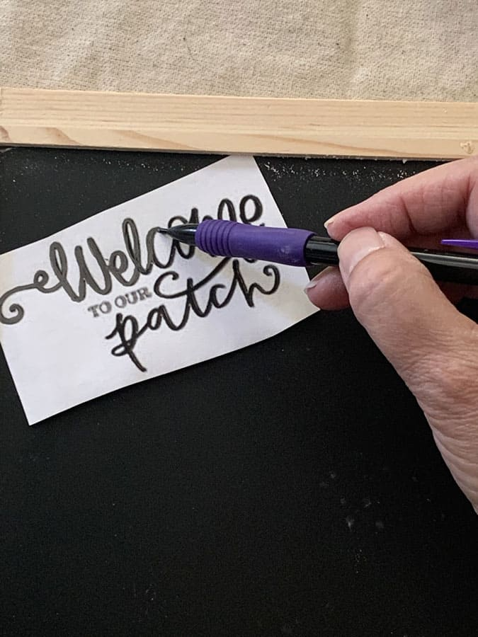 fall craft ideas transfer letters