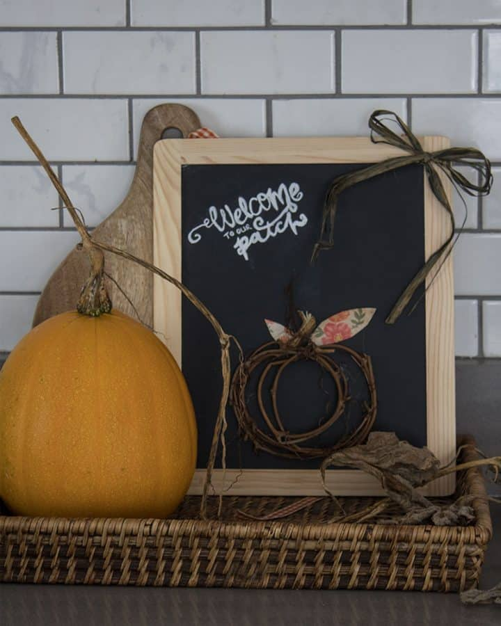 how to make a grapevine pumpkin patch sign